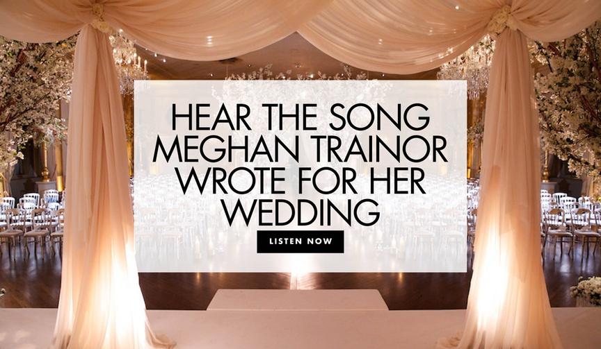 hear the song meghan trainor wrote for her wedding to daryl sabara celebrity wedding music