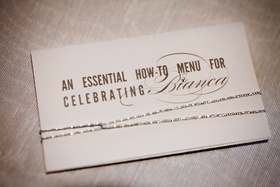 How-to menu for guests