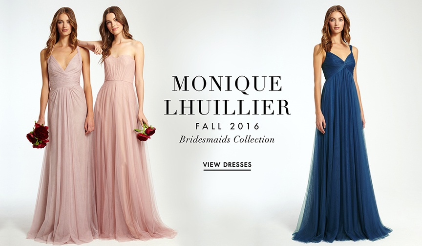 Monique Lhuillier bridesmaid dresses Fall 2016
