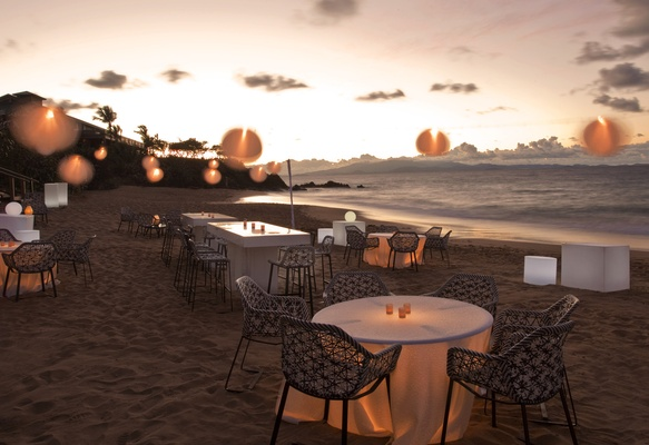 Beach event on sand at W Retreat & Spa, Vieques Island.