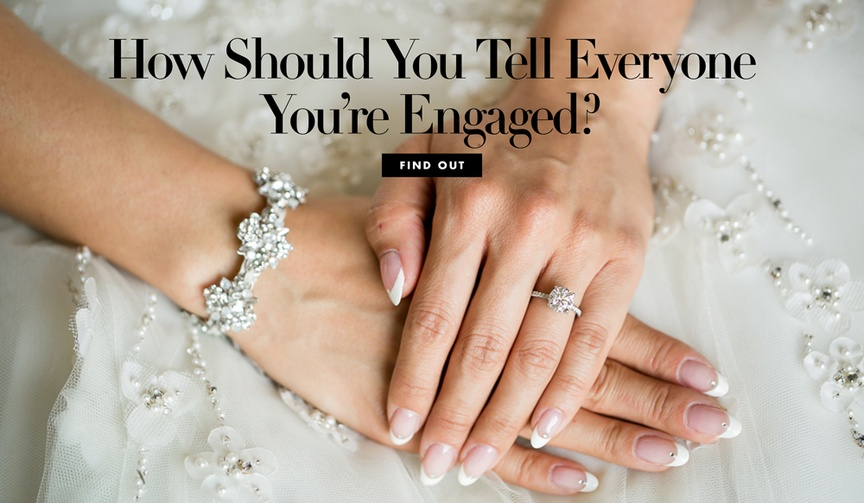 How should you tell everyone you're engaged? Get tips in time for engagement season