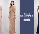 THEIA Bridesmaid Dresses Spring 2018 bold striking navy gold metallic dusty rose pink wedding woman