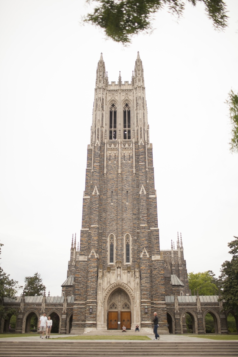 Exterior Shot Of Duke University Chapel For Wedding