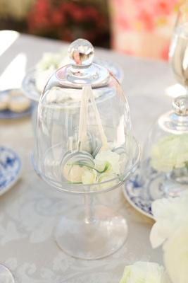 Cake pops in glass dome