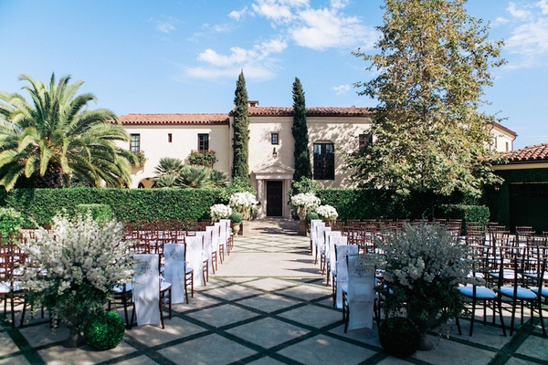 Villa Sevillano in Santa Barbara outdoor wedding venue