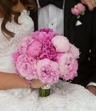 pink peonies, blush bouquet, bridal bouquet, peony bridal bouquet