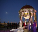 Resort at Pelican Hill gazebo night Jewish ceremony