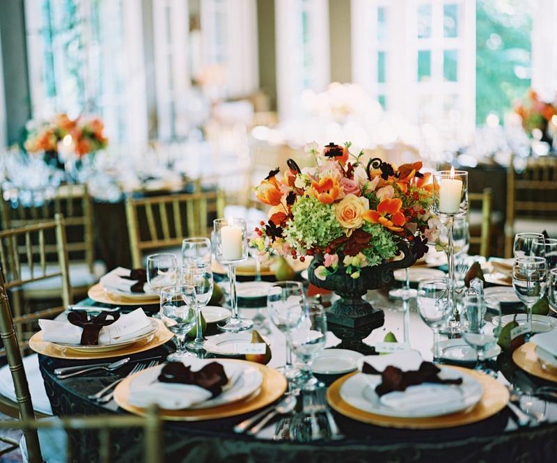 Reception Dcor Photos Fall Inspired Wedding Centerpiece Inside