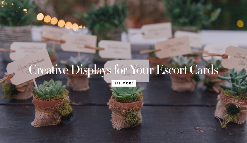 creative themed ways display escort cards place cards wedding reception modern chic fun unique