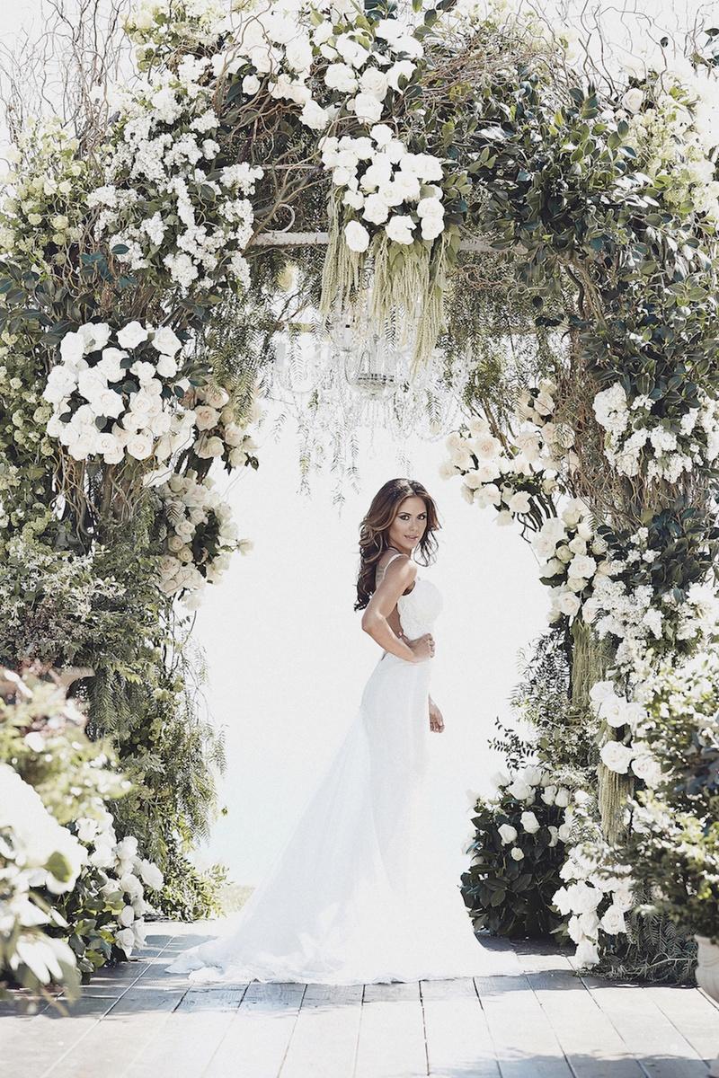 Galia Lahav low-back lace wedding dress