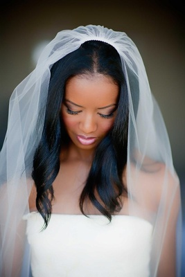 African American wedding makeup bridal look