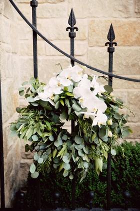 greenery wreath with eucalyptus and phalaenopsis gardens