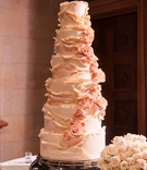 wedding cake with multiple layers blush flowers ruffles persian wedding cake flavors