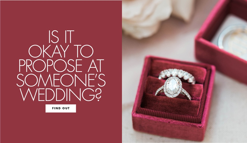 why not to propose at someone else's wedding, don't propose at weddings