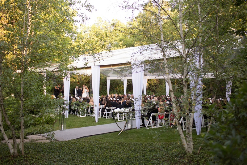 White clear top wedding tent in backyard Illinois outdoor wedding ceremony & Locations u0026 Venues Photos - Tent Wedding Ceremony in Backyard ...