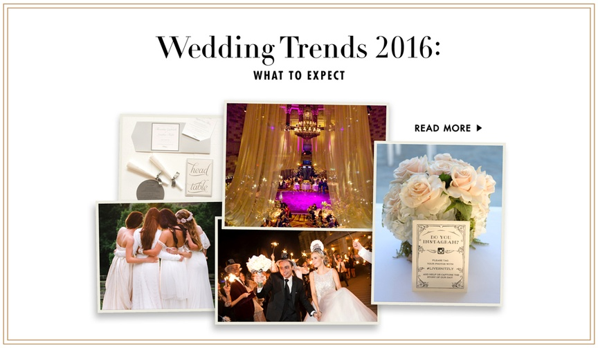 wedding trends we expect to see in the new year 2016