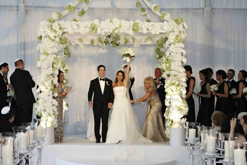 Sophisticated Contemporary Wedding Ceremony In: Ceremony Décor Photos