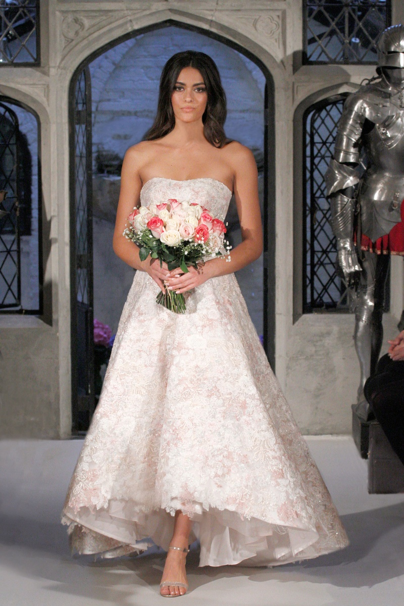 Wedding Dresses Photos - High-Low Floral Gown by Oleg Cassini ...