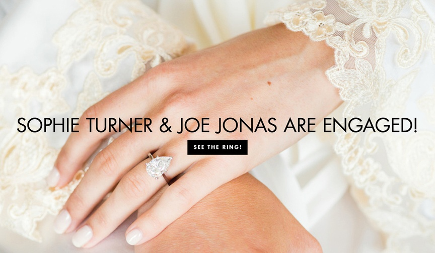 Be inspired by her and other brides' pear-shaped engagement rings.