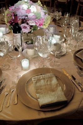 Penfolds wine bottle on neutral tablescape