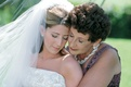 Woman with mother-of-the-bride on wedding-day