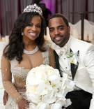 Real Housewives of Atlanta bride and groom with tiara