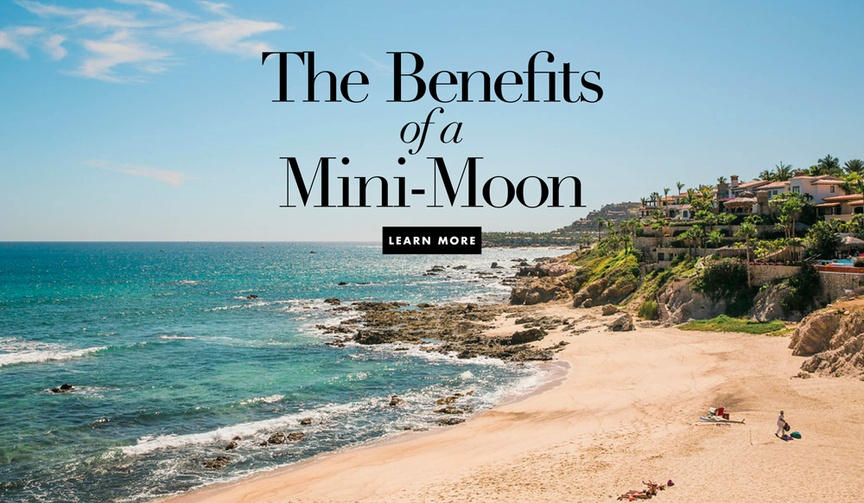 The benefits to taking a minimoon mini moon vacation with your new husband or wife