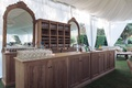Custom made wooden wedding bar with two mirror decorations