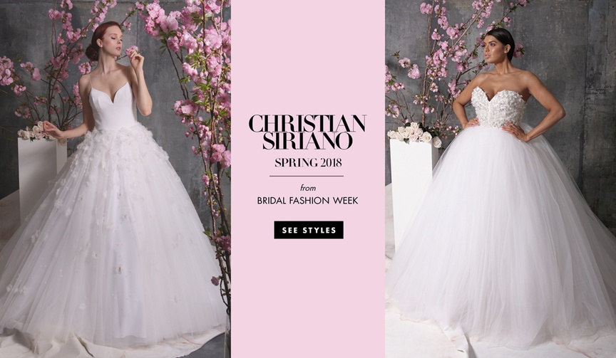Wedding dresses bridal gowns from Project Runway's Christian Siriano spring 2018 collection