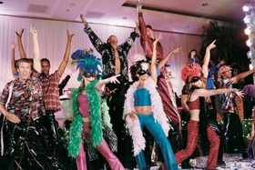 Broadway style performers provided entertainment for a wedding reception