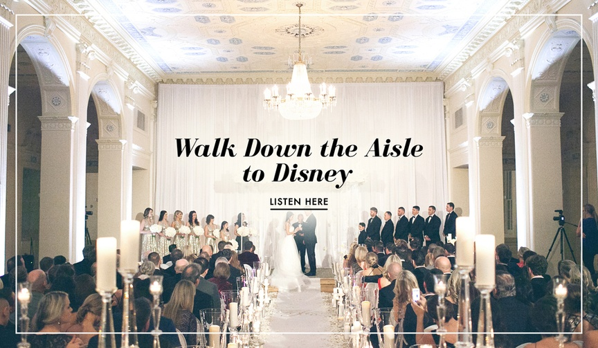 Wedding processional song ideas to Disney movie tunes