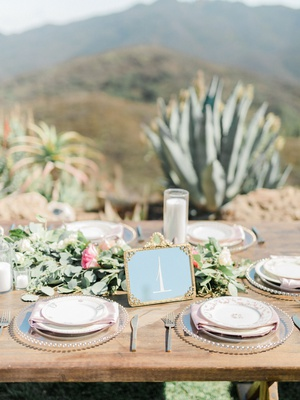 Wedding reception megan nicole youtube singer wood table outdoor wedding greenery pink flowers gold