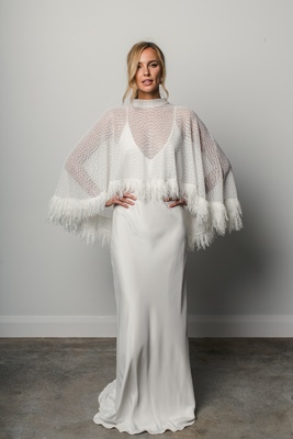 High fashion cape Pierre by Grace Loves Lace Elixir to create a second wedding look.