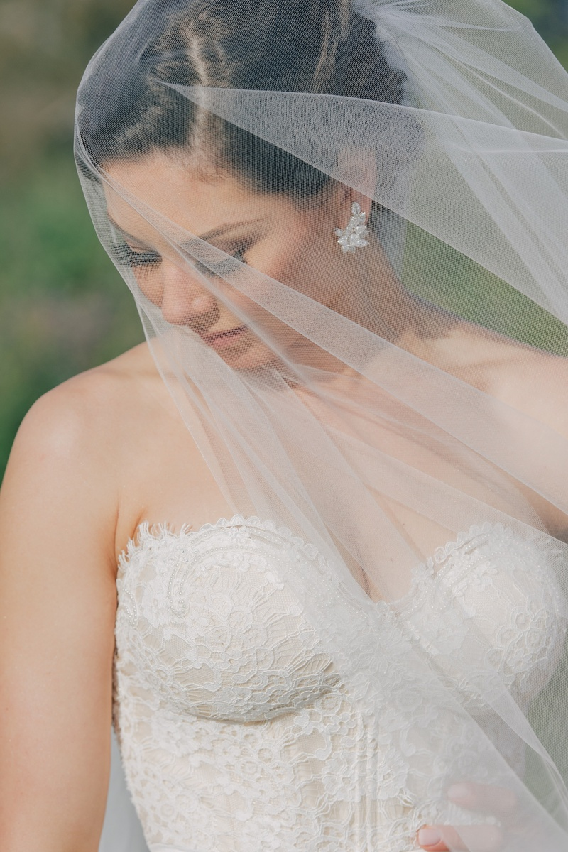 Celebrity bride wearing Erica Koesler veil