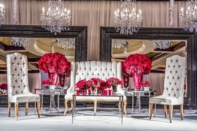 Indian wedding reception seating for newlyweds