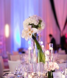 Adrianna Costa wedding centerpiece with white bouquets