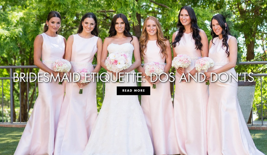 Tips and tricks for how to be the perfect member of the bridal party.