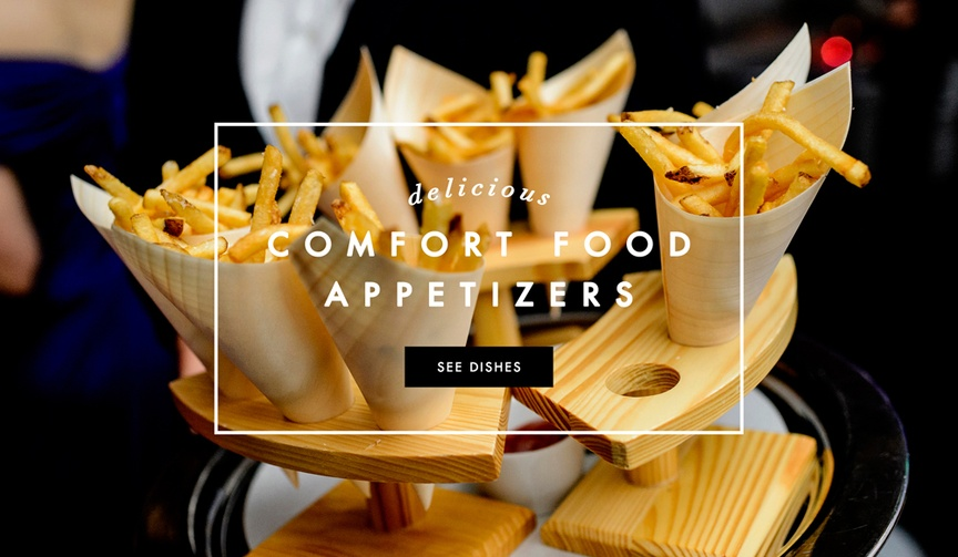 Comfort food appetizers for your wedding menu