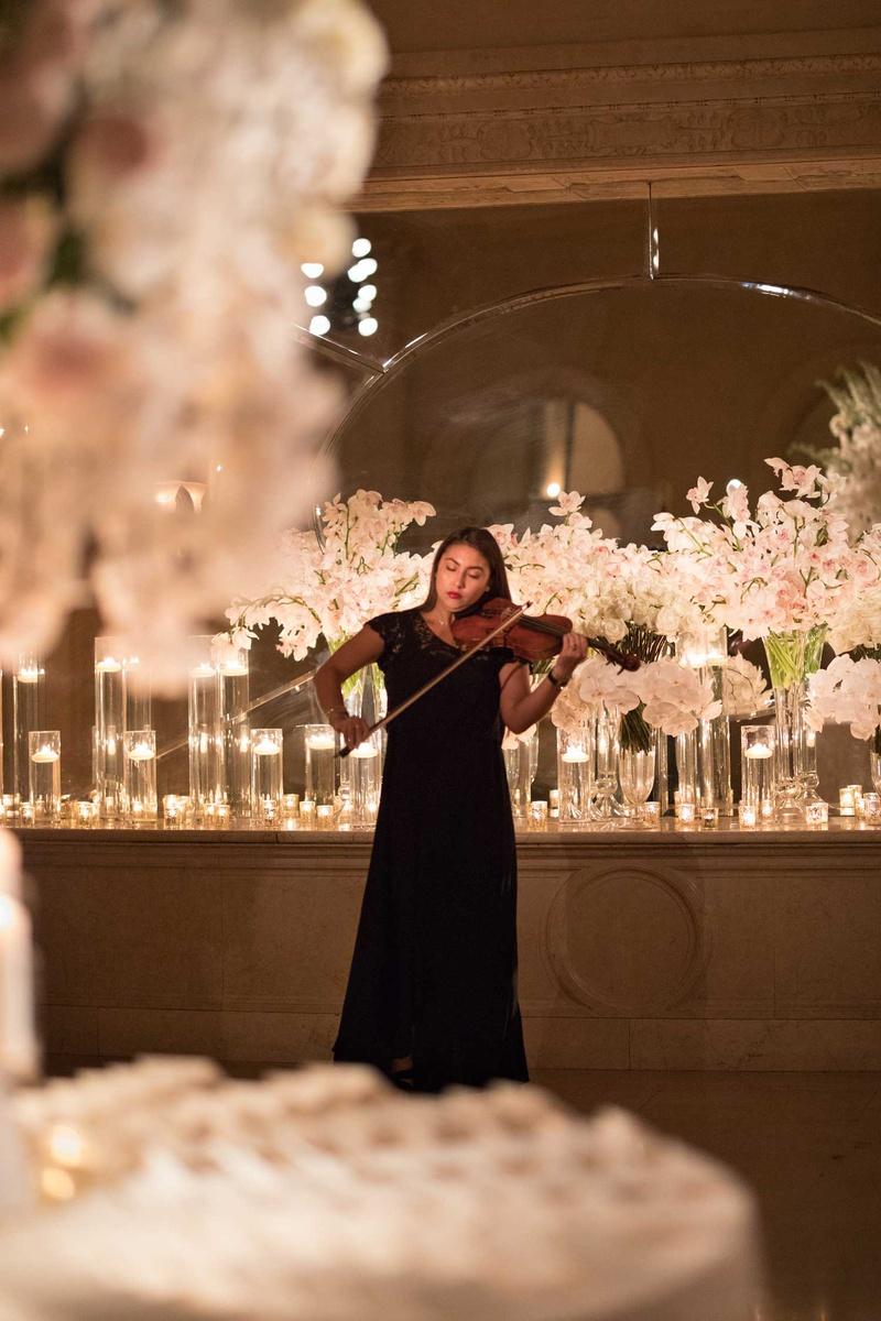 new york city wedding ceremony entertainment woman playing violin musician