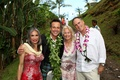 Angus Mitchell, co-owner of Paul Mitchell Systems, with loved ones at his wedding in Hawaii