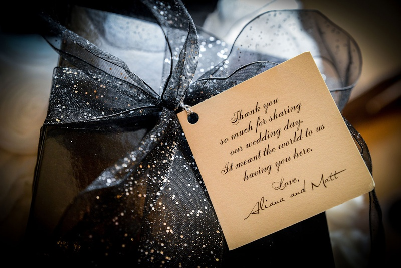 Thank-You Note On Wedding Favor