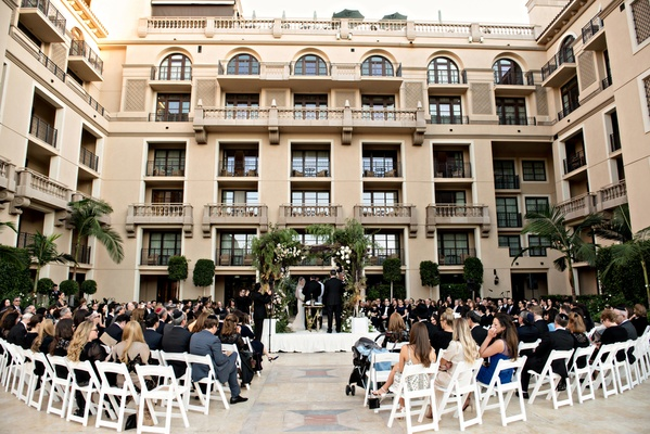 traditional jewish wedding at beverly hills montage hotel