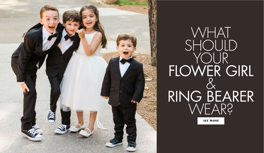 What should your flower girl and ring bearer wear
