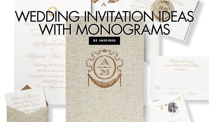 wedding invitation ideas with monograms inside weddings ideas invitation designs monogram