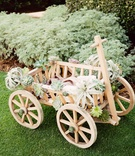 wagon for baby flower girl, wedding wagon with air plant and succulents