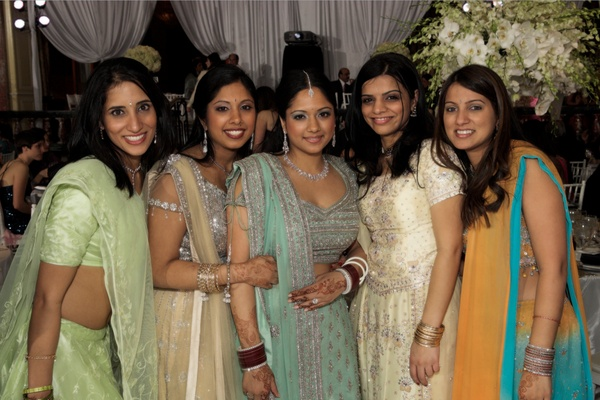 Indian American women in traditional attire