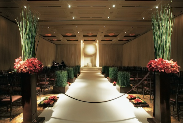 Unique chuppah and aisle markers