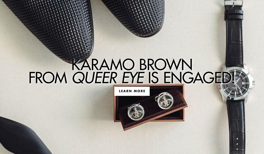 queer eye's karamo brown proposed to ian jordan, karamo brown engaged