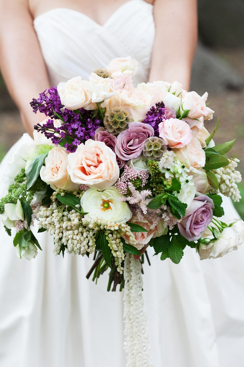 Bouquets Photos Purple Pink And White Unstructured Bouquet