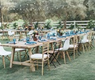 long rustic naked tablescape ranch setting california winter boho wedding styled shoot outdoors